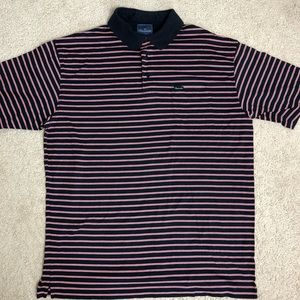 Façonnable Men's Striped Polo Sz L